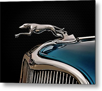 Vintage Hood Ornament Metal Prints
