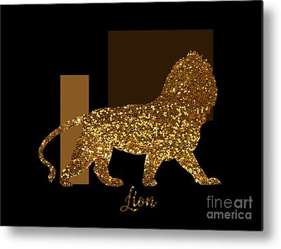 Gold Lame Digital Art Metal Prints