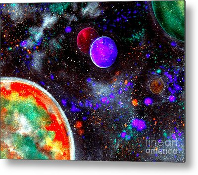 Intergalactic Space Paintings Metal Prints