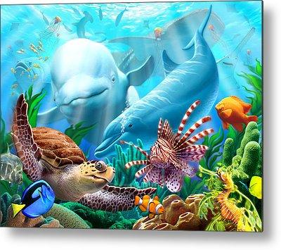 Whale Shark Metal Prints