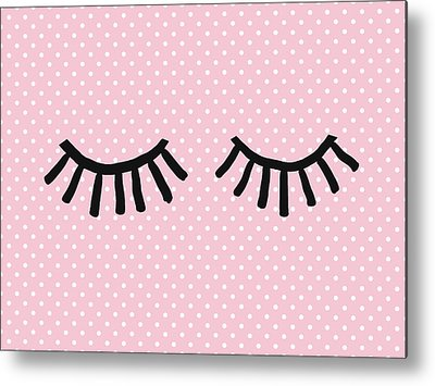 Eyelashes Metal Prints
