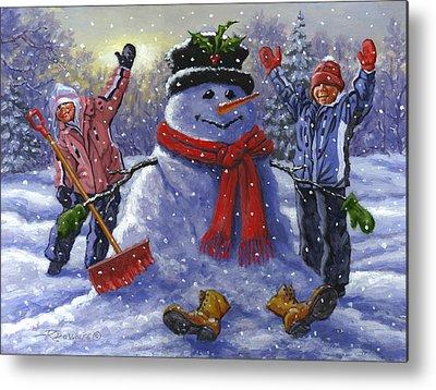 Snowman Metal Prints