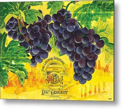 Grapes Paintings Metal Prints
