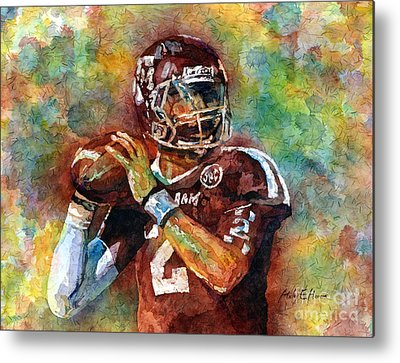 American Football Paintings Metal Prints