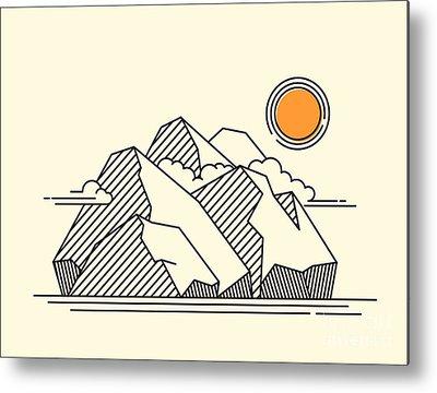 Mont Blanc Metal Prints