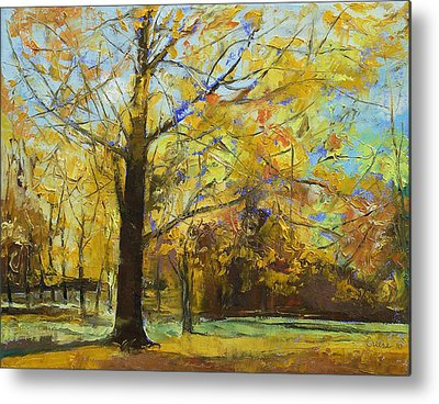 Abstract Realist Landscape Metal Prints