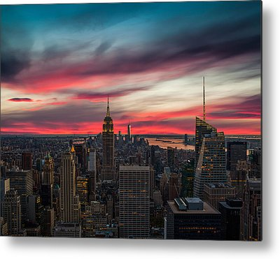 New York City Skyline Metal Prints