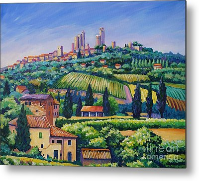 Italian Landscapes Paintings Metal Prints