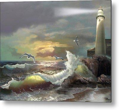 Waterscape Paintings Metal Prints