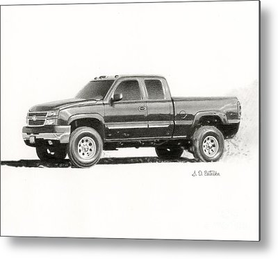 Truck Drawings Metal Prints