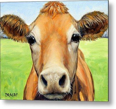 Cow Art Metal Prints