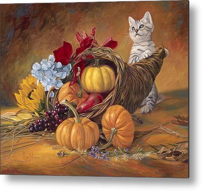 Thanksgiving Paintings Metal Prints