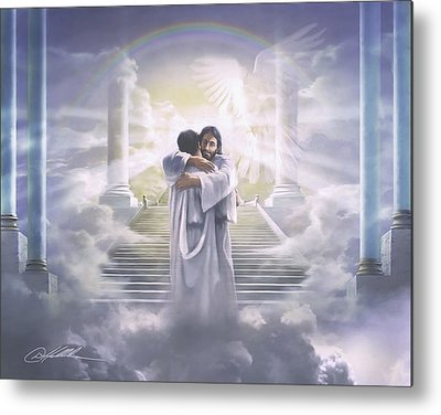 Worship God Paintings Metal Prints