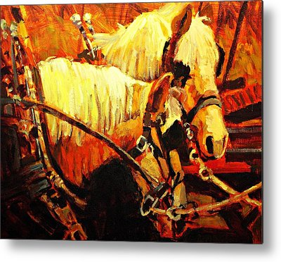 Farm Horse Metal Prints