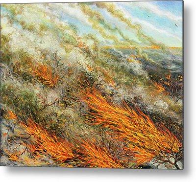 Combustion Paintings Metal Prints