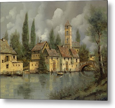 River Paintings Metal Prints