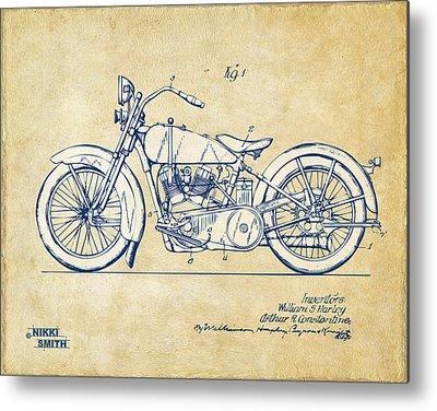 Harley Davidson Patent Metal Prints
