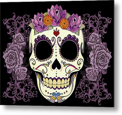 Purple Metal Prints