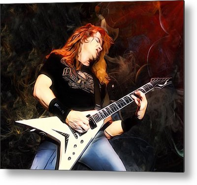 Dave Mustaine Metal Prints