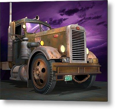 Semi Truck Metal Prints