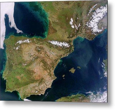 Iberian Peninsula Metal Prints