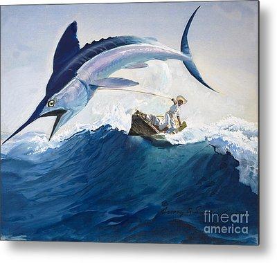 Big Fish Paintings Metal Prints