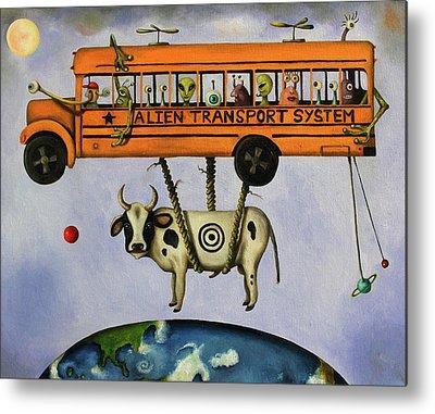 School Buses Metal Prints