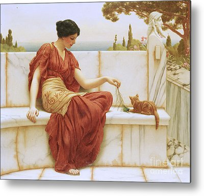 John William Godward Metal Prints