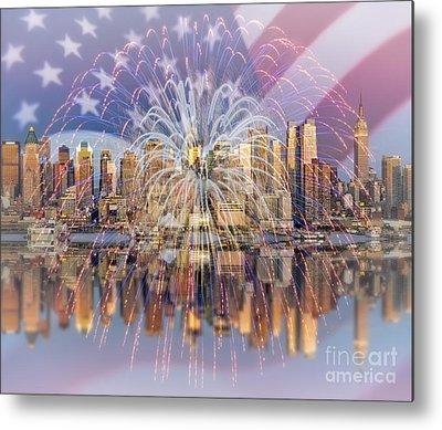 American Independance Digital Art Metal Prints