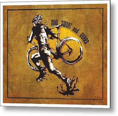 Bicycling Metal Prints