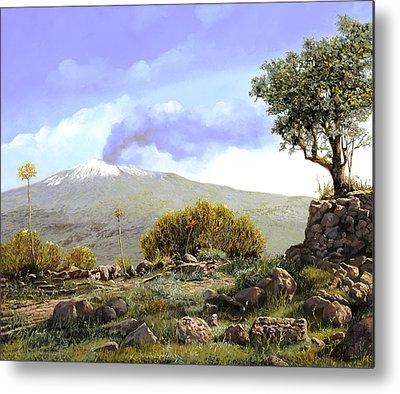 Sicily Paintings Metal Prints
