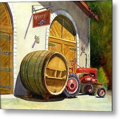 Wine Barrel Metal Prints