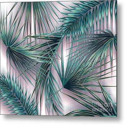 Red Leaf Digital Art Metal Prints
