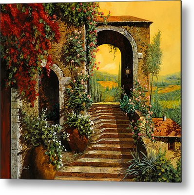 Arched Paintings Metal Prints