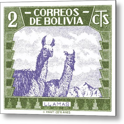 Alpaca Metal Prints