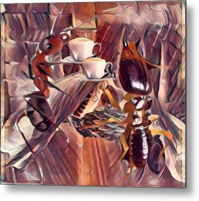 Termites Digital Art Metal Prints