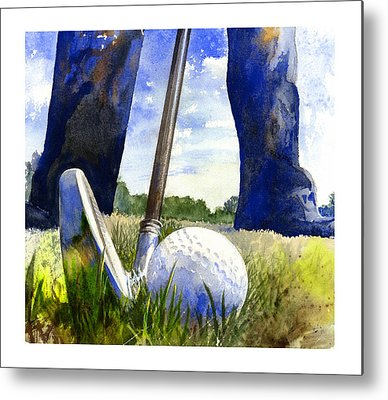 Golf Paintings Metal Prints