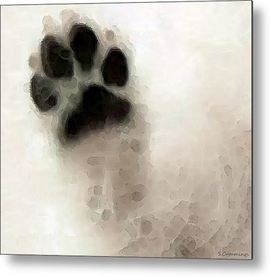 Labrador Retriever Digital Art Metal Prints