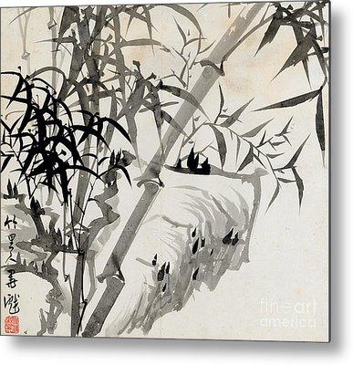 Bamboos Metal Prints