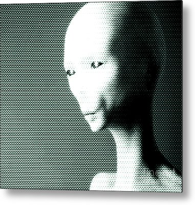 Monster Ufo Metal Prints