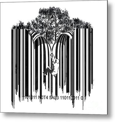 Barcode Metal Prints