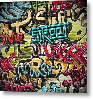 Aerosol Digital Art Metal Prints