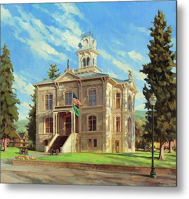 Courthouse Paintings Metal Prints