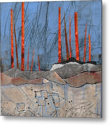 Acrylic Mixed Media Abstract Collage Metal Prints
