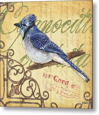 Bluejay Paintings Metal Prints