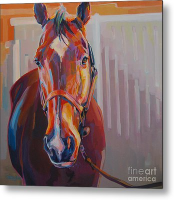 Race Horse Metal Prints