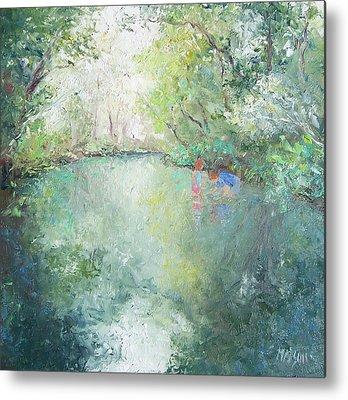 Landscape With Creek Metal Prints