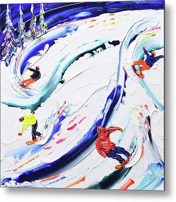 Snow Carving Paintings Metal Prints
