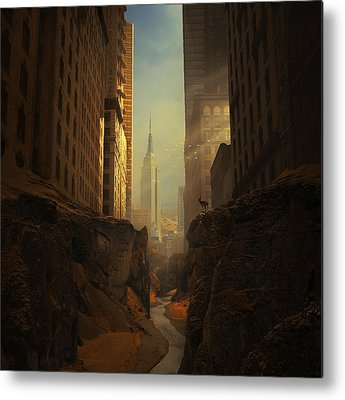 New York City Digital Art Metal Prints