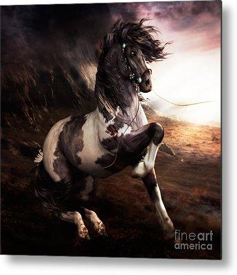 Ponies Metal Prints